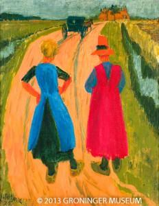 Jan Altink (1885-1971) Na het bezoek,1925 (detail) Was/olieverf op doek Collectie Groninger Museum 76 x 60 cm / 100 x 84 cm