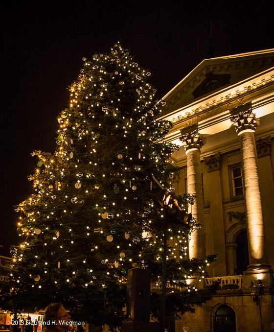 Lichtjes Kerstboom Grote Markt Branden Weer Jouwstad