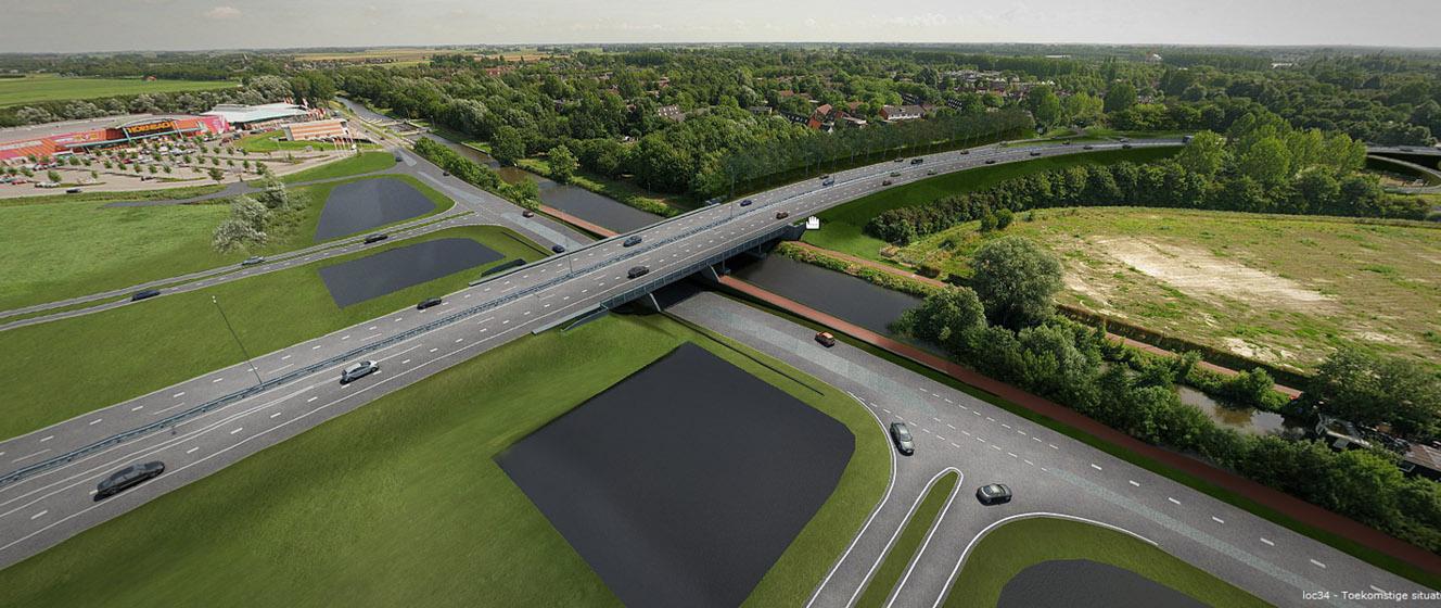 2014-05-06 Persbericht - illustratie Groningerweg, grootschalige omleidingen Oostelijke Ringweg