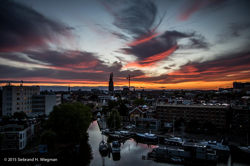 Sunset over Groningen-7541