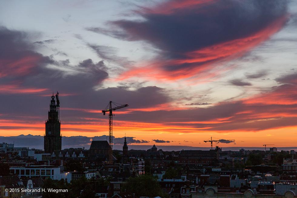 Sunset over Groningen-7545