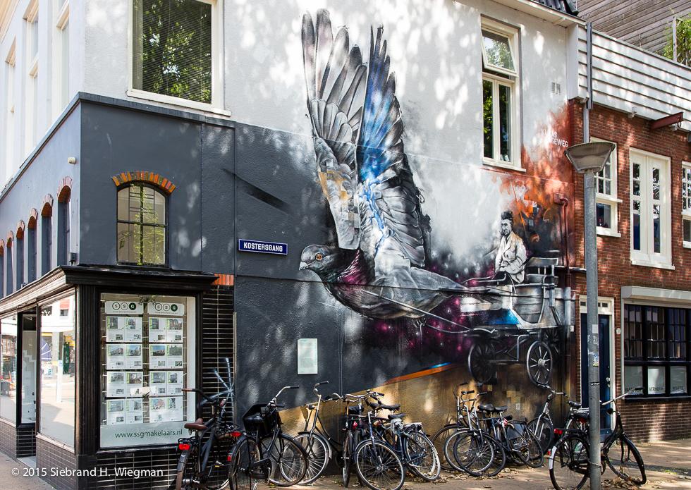 Duif kunstwerk Kostersgang-7710
