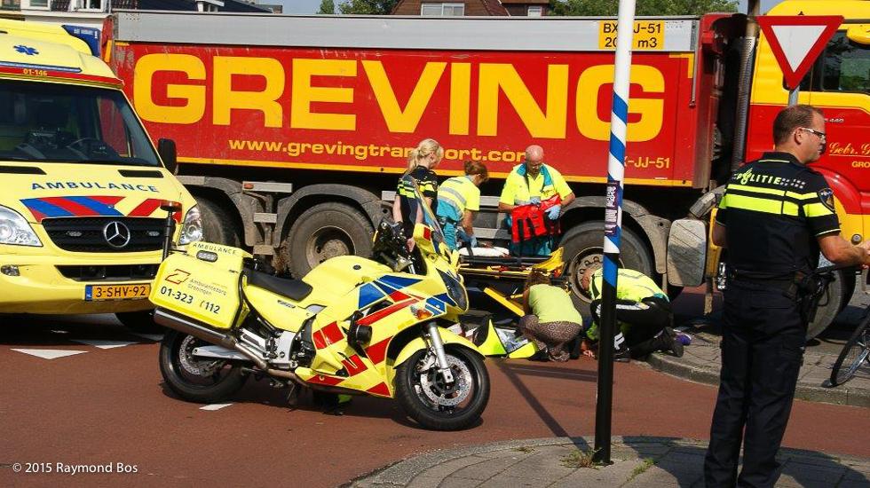 ongeval fiets met vrachtwagen-01525